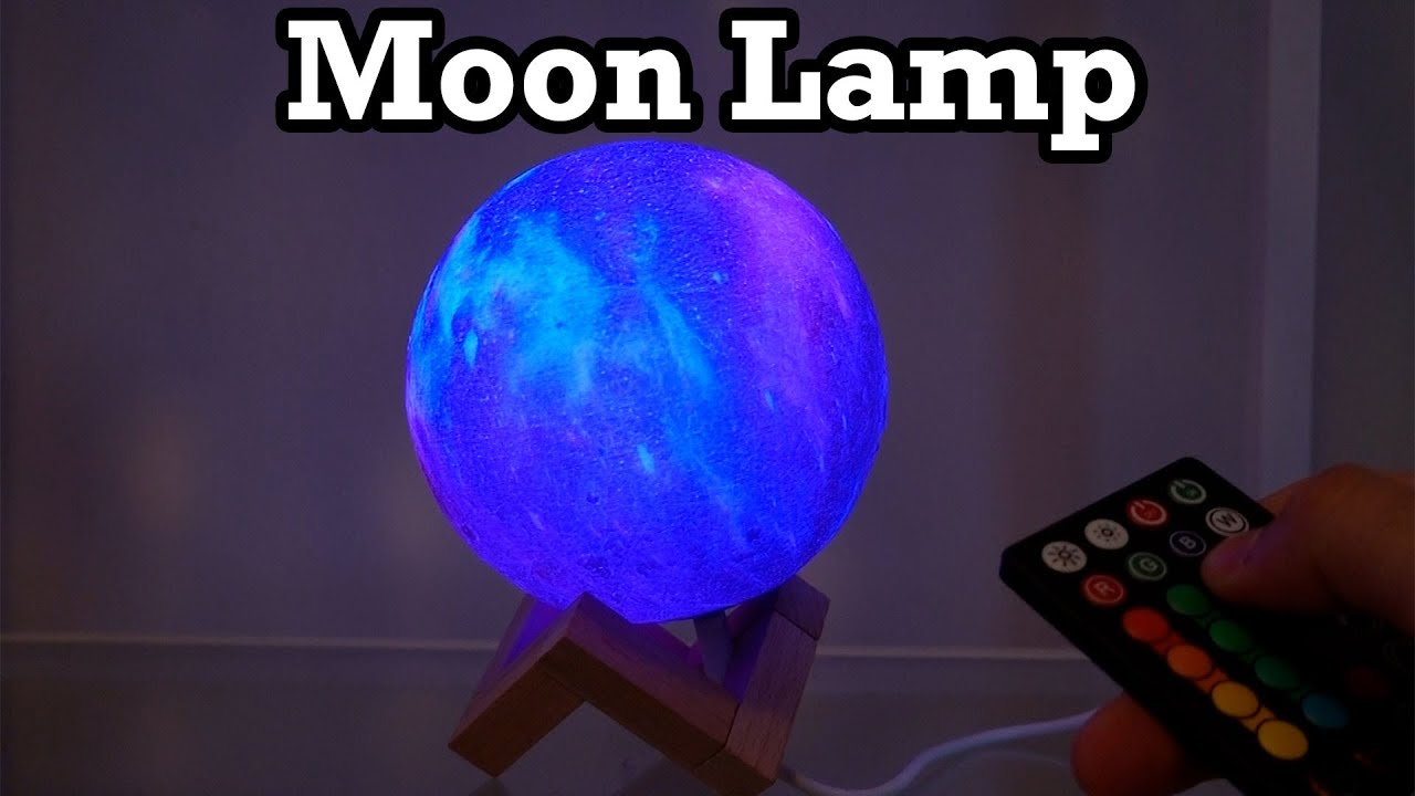 Moon Lamp LOGROTATE Unboxing Setup Review 16 Colors Night Light