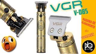 VGR V-085 (Kemei 700b) máquina de acabamento | Unboxing e Review