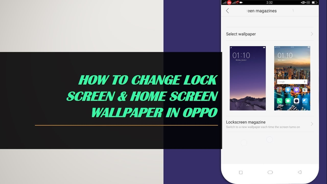 How To Change Lockscreen Wallpaper In OPPO