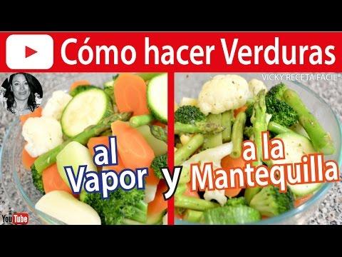 C mo hacer verduras al vapor y a la mantequilla vicky - Como hacer verduras salteadas ...