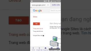 Hướng dẫn tạo trang Web miễn phí trên Android