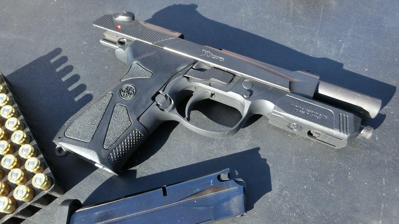 実弾射撃 ベレッタ 90-Two 自動拳銃 (Beretta 90 Two Shooting) - YouTube