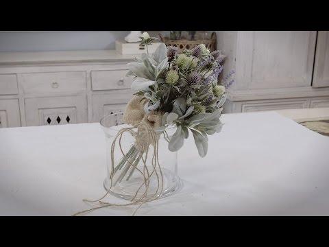 Thistle, Lamb's Ear And Lavender Bouquet Floristry Tutorial