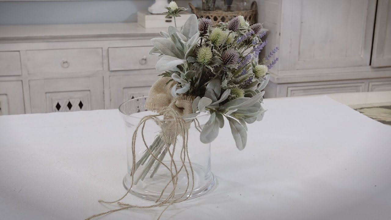 Thistle Lambs Ear And Lavender Bouquet Floristry Tutorial Youtube