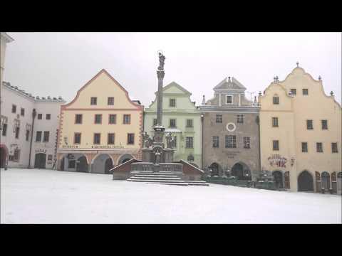 Cesky Krumlov in Winter Snow (Czech Republic Bohemia Unesco Site)