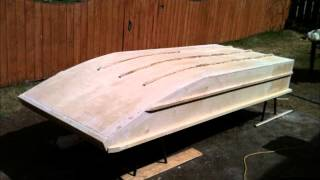 Home Made Wooden Jon Boat