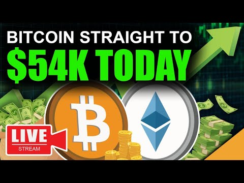 Bitcoin BLASTING OFF to $54k TODAY (Ethereum Lagging Behind)