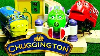 Chuggington Trains Crossing Platform Wooden Version with Wilson Koko Brewster ToyGenie