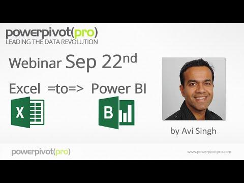 Excel to Power BI: Webinar Recording 2015-09-22