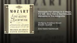 Serenade For strings In G Major, KV 525: Eine Kleine Nachtmusik: Menuetto & Trio Allegretto