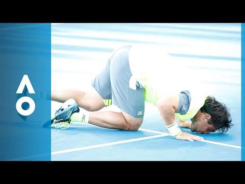 Marcos Baghdatis v Yuki Bhambri match highlights (1R)   Australian Open 2018