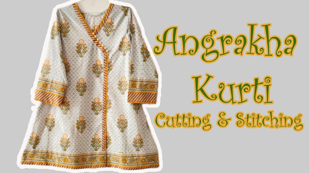 Download Angrakha Kurti Cutting & Stitching Tutorial | Stylish Angrakha Kurti For Summer 2020