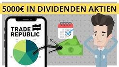 Wie ich 5000€ in Dividenden Aktien investiere inkl. Strategie