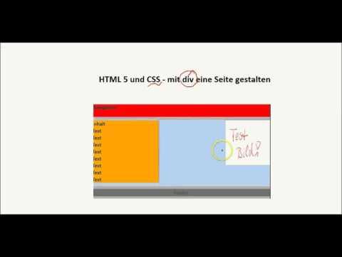 HTML - Mit CSS Und Div Eine Website Gestalten
