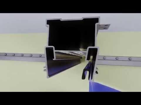 Натяжные потолки MARIO - Работа с профилем FLEXY ПФ 6838 Широкие световые линии