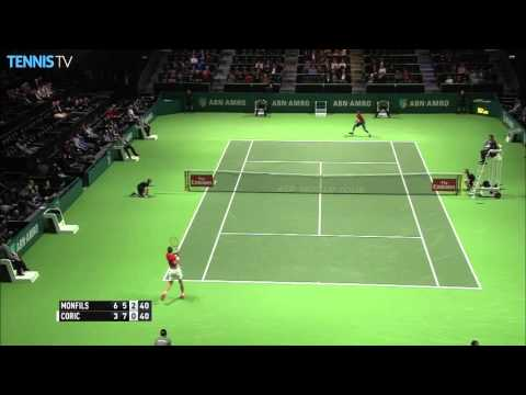 Coric Finds The Angle In Rotterdam 2016 Hot Shot