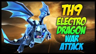 """Th9 """"Electro Drag + Drags + Queen Walk"""" War Attack Strategy 