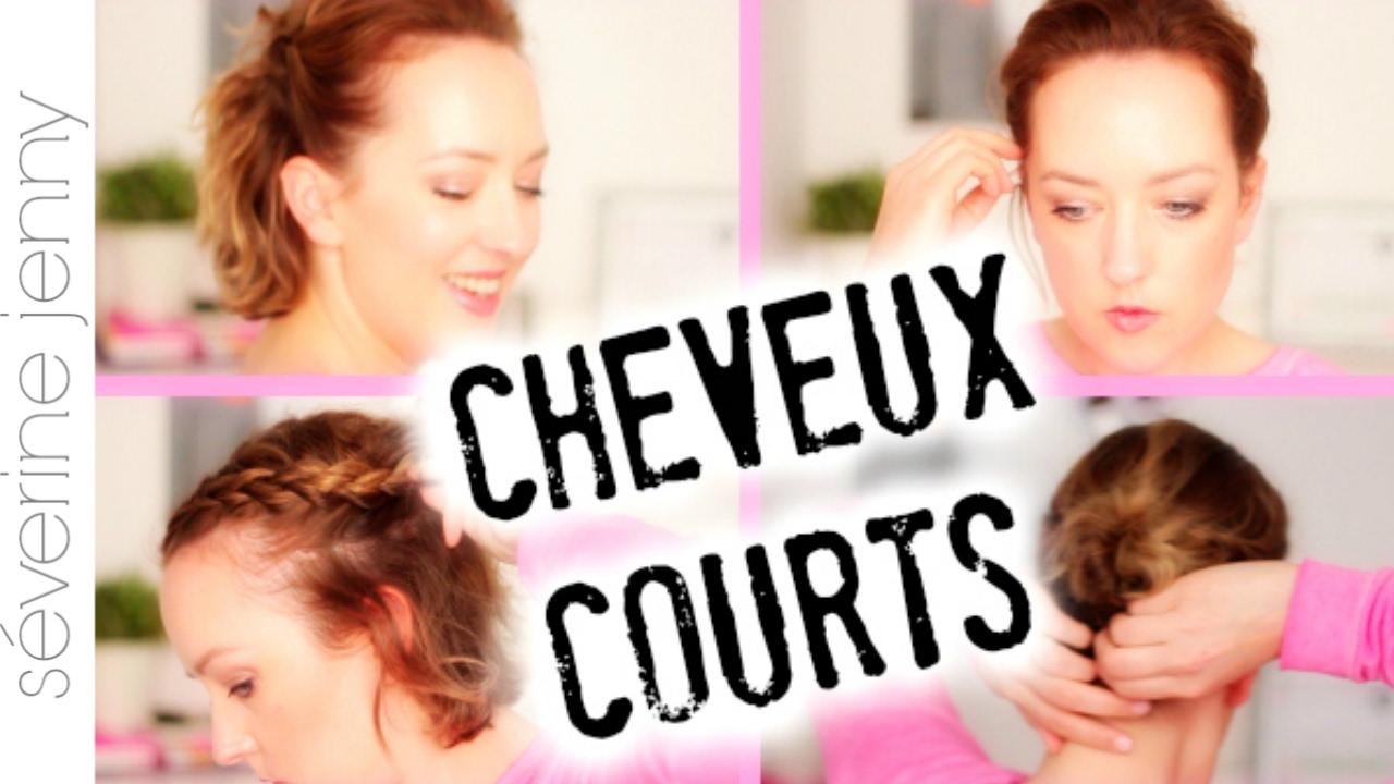 Coiffure Cheveux Courts Idees Faciles Pour Tous Les Jours Youtube