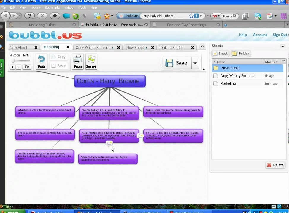 Bubblus Review Free MindMapping Software YouTube - Free mapping program