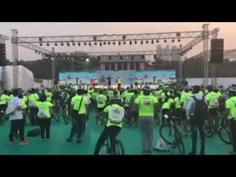 saksham cyclothon | #mainhoonsaksham | dance warm up | DELHI SALSA CLUB | mumbai | 25th feb 2018 |
