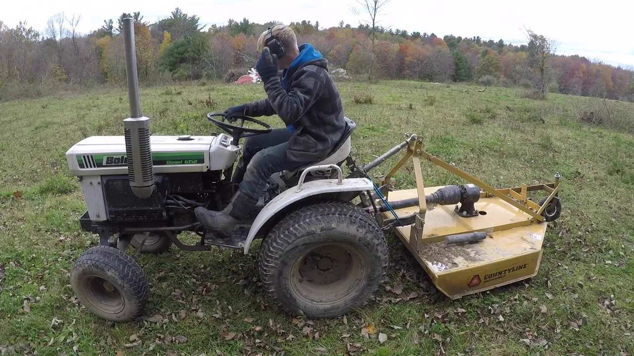 Brush hogging with a Bolens ISEKI G152 Sub-compact Tractor