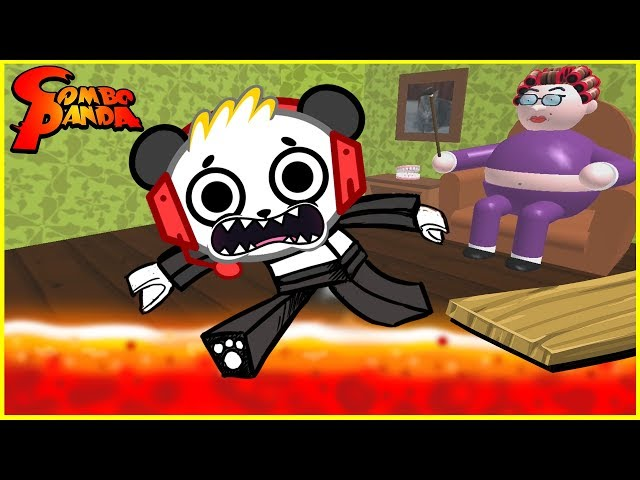Roblox Escape Grandmas House CRAZY CATS Lets Play with Combo Panda