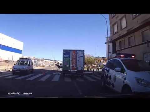 Control de tráfico en Marín
