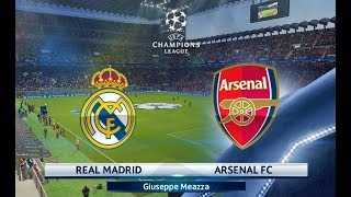 Real madrid vs arsenal | uefa champions league 2018 | pes 2018 gameplay hd