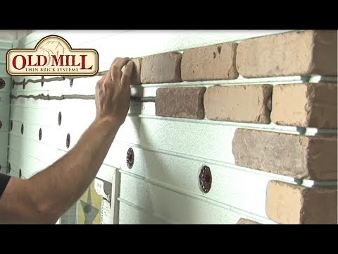 How to Install Old Mill Foam Panel and Thin Brick