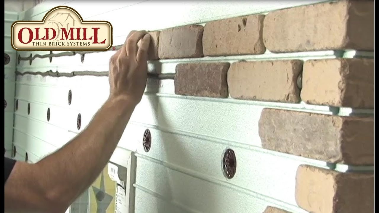 wood and brick facade panels