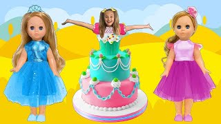 Sasha and Birthday Party with Surprise Cake Dress