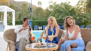 Blas Roca-Rey e Monica Rogledi   all' Hotel Village fior di Sardegna