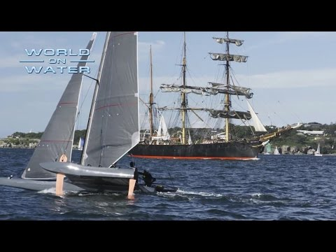 World on Water May 05 17 Antigua, Super Foiler, RC44, Sebastien Destremau more