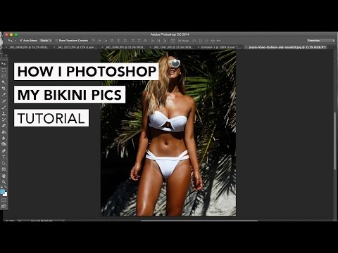 How I photoshop my bikini pics tutorial
