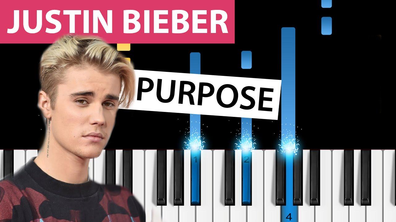 Download Justin Bieber - Purpose - Piano Tutorial