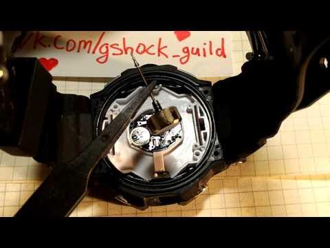 Как снять корону/заводную головку с часов Casio G-Shock (fake)