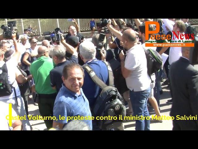 Salvini castel volturno proteste