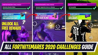 All Fortnitemares 2020 Challenges - How to unlock FREE Pickaxe, Back bling, Wrap & more in Fortnite