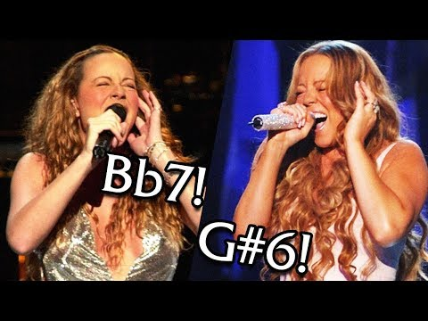Mariah Carey - HIGHEST Whistle Note From Each Year! (Live)
