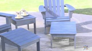 Cape Maye Weathered Adirondack Chair - Wedgewood Blue - Product Review Video