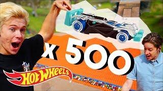 500 Cars Vs The Mega Ramp W/Tanner Fox , Hot Wheels Unlimited , Hot Wheels