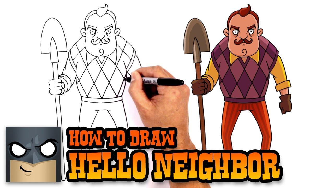 how to draw hello neighbor