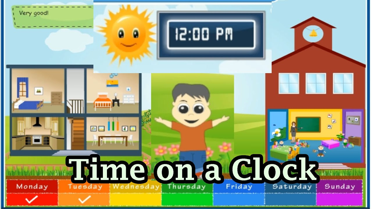 Learn To Tell Time How To Read The Time On A Clock Tick Tock Time