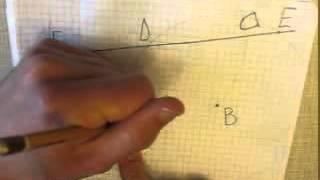 Построение прямой параллельной данной прямой проходящей через точку вне данной прямой