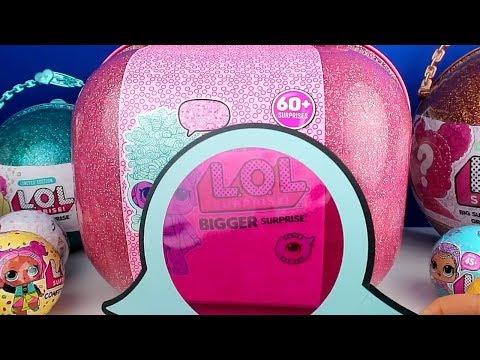 LOL Sürpriz Bigger Surprise Gerçek Saçlı 60 Sürpriz! Dev LOL Çanta Yeni Lol Bebekler Bidünya Oyuncak