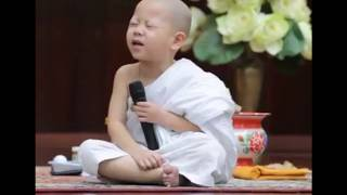 funny baby monk