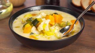 Итальянский сырный суп из оставшихся овощей за 30 минут Рецепт от Всегда Вкусно