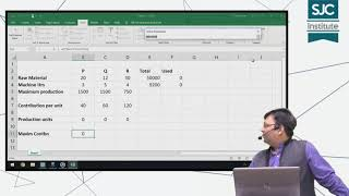 Linear Programming - in Ms Excel