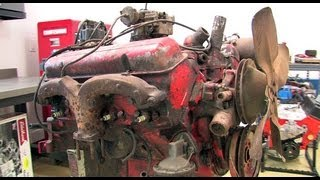 Tearing Down an Original Chevy 283 (in One Minute)