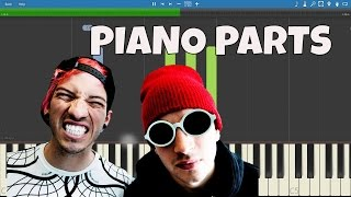 Heathens - PIANO PARTS ONLY - twenty one pilots - Piano Instrumental Tutorial